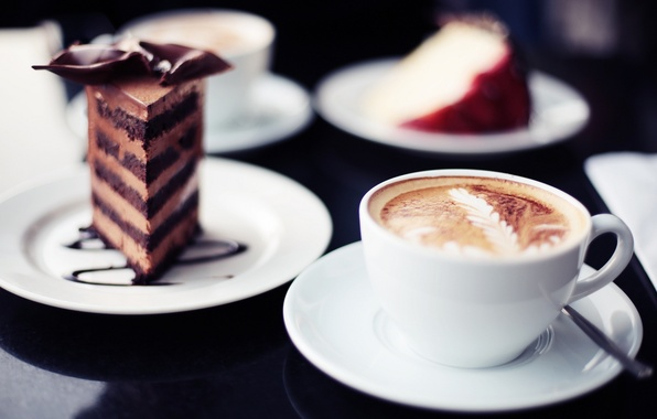 Picture background, widescreen, Wallpaper, coffee, food, chocolate, mug, sweets, wallpaper, cake, cappuccino, widescreen, background, cake, cocoa, …