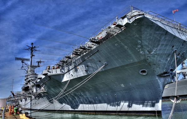 Picture ship, pier, the carrier, USA, on vacation, cleats, mooring