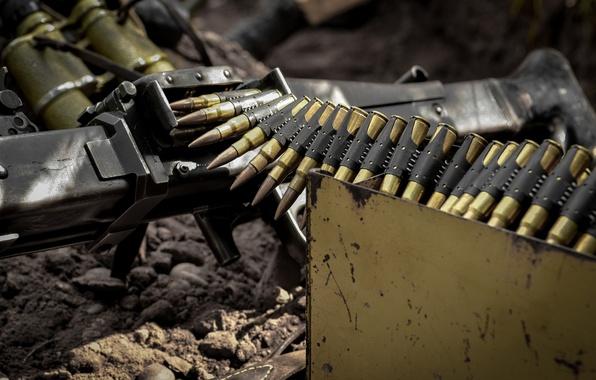 Picture weapons, box, MG-42, machine gun, tape cartridges