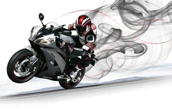 Picture motorcyclist, Yamaha, front, Yamaha, YZF-R6, sport bike