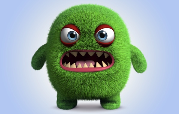 Picture monster, monster, cartoon, character, funny, cute, angry, fluffy
