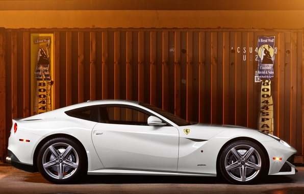 Picture white, container, profile, white, ferrari, Ferrari, Berlinetta, f12 berlinetta
