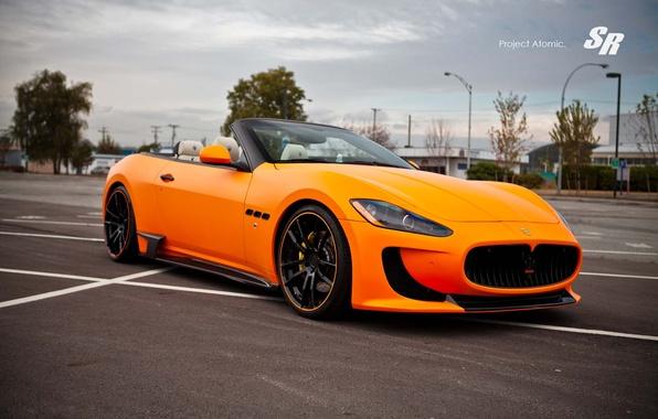 Picture Maserati, convertible, Maserati, orange, Convertible, Gran Turismo, V-8, SR Auto Group, Atomic