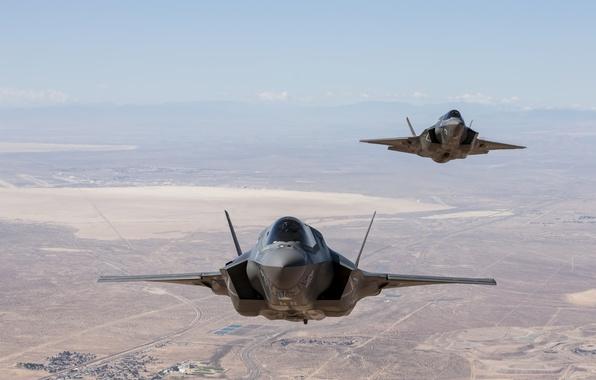 Picture flight, desert, USA, USA, Nevada, USAF, F-35, F-35B, Lockheed Martin, F-35B, F-35, F35