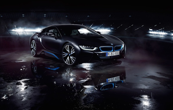 Picture BMW, German, Car, Front, Black, Water, Matte, Ligth