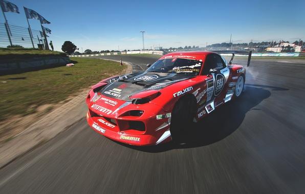 Picture race, skid, drift, mazda, rx7, race, Mazda, slide, drifting