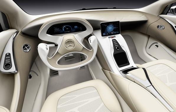 Picture car, Mercedes-Benz, concept, Mercedes, white, art, background, inside, supercars