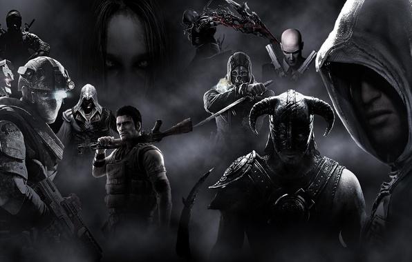 Picture the game, Prototype, Hitman, The Elder Scrolls V: Skyrim, Ezio, Dishonored, Ezio Auditore da Firenze, …
