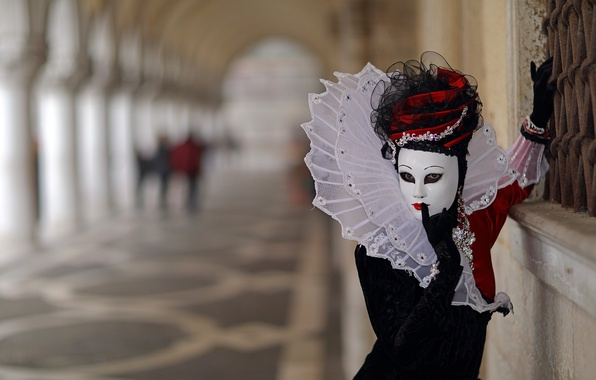 Picture background, mask, The carnival of Venice