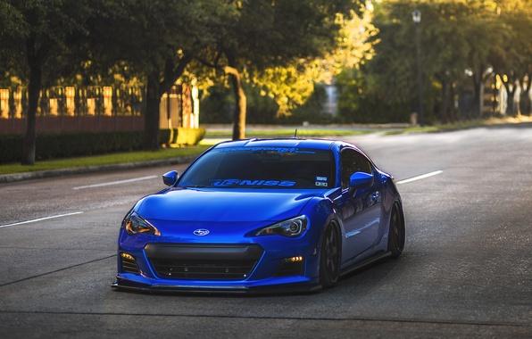 Picture Subaru, blue, front, brz, stance