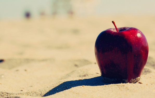 Picture sand, beach, background, red, widescreen, Wallpaper, apple, Apple, food, fruit, wallpaper, widescreen, background, full screen, …
