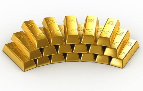 Picture Pyramid, Background, Metal, Gold, Ingot