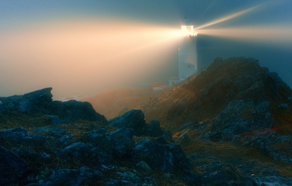 Picture light, stones, Lighthouse