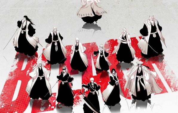 Picture wallpaper, sword, game, bleach, fox, anime, Kurosaki Ichigo, katana, man, boy, byakuya, captain, manga, strong, …