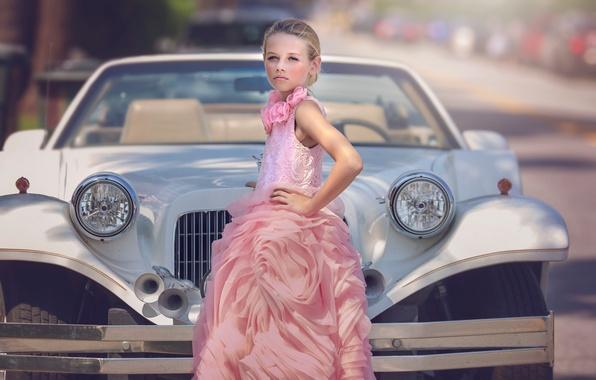 Picture auto, dress, girl, Transportation, Julia Altork
