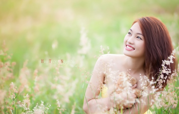 Picture summer, girl, smile, Asian