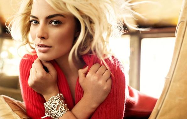 Picture makeup, actress, hairstyle, blonde, photoshoot, Glamour, Margot Robbie, Margot Robbie, Peggy Sirota