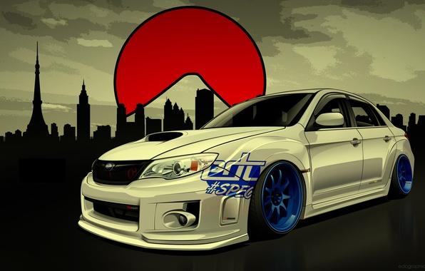 Picture Subaru, Impreza, WRX, STI, Subaru, Impreza, Drift Spec Vector, by Edcgraphic