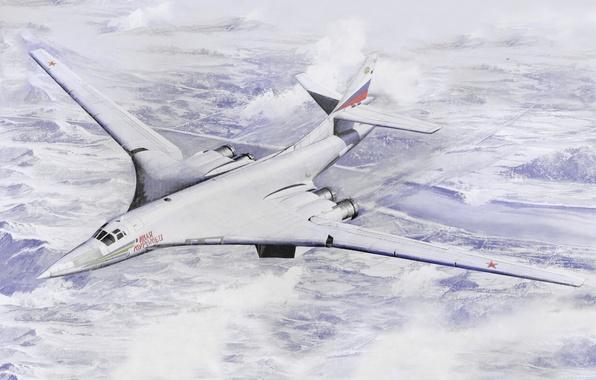 Picture USSR, Art, BBC, Russia, Supersonic, Strategic, Bomber bomber, The Tu-160, far, Ilya Muromets