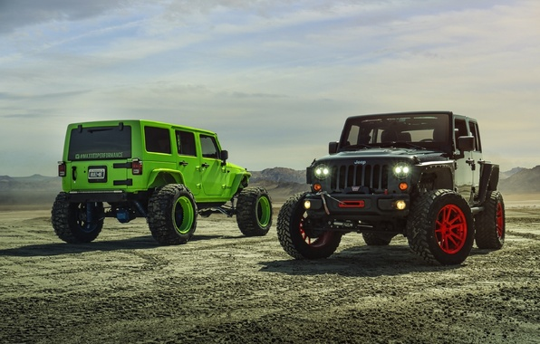 Picture Green, Black, Forged, Custom, Wrangler, Jeep, Wheels, Track, ADV1, Function