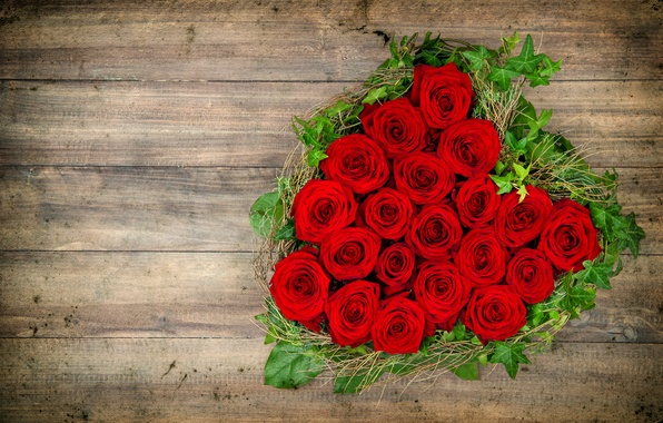 Picture love, flowers, heart, roses, red, love, heart, flowers, romantic, roses