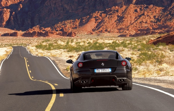 Picture road, ferrari, 599gtb