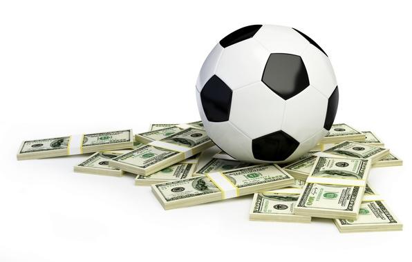 Picture football, the ball, money, the bucks, packs, Dollars