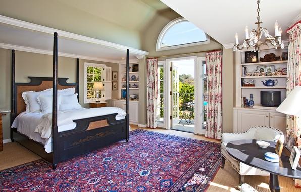 Picture landscape, nature, house, table, room, Wallpaper, Villa, bed, interior, carpet, chair, TV, chandelier, wallpaper, balcony, …