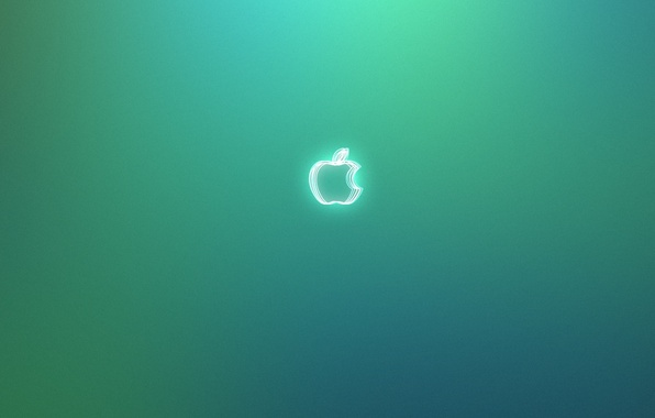 Picture apple, Apple, green background