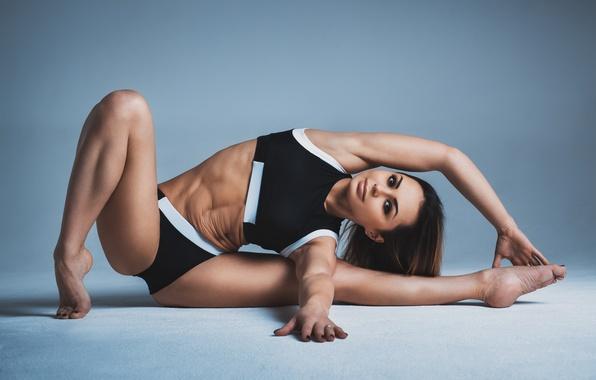 Picture woman, pose, yoga, elongation