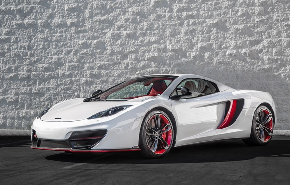 Picture McLaren, red, white, MP4-12C