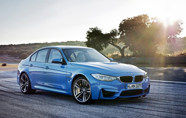 Picture blue, BMW, angel eyes, M-package