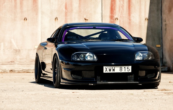 Picture Machine, Black, Toyota, Car, Car, Black, Supra, Wallpapers, Beautiful, Sport, Toyota, Supra, JDM, Wallpaper, Front