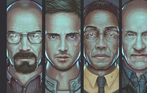 Picture the series, art, breaking bad, breaking bad, Bryan Cranston, AMC, Mike Ehrmantraut, Walter White, Aaron …