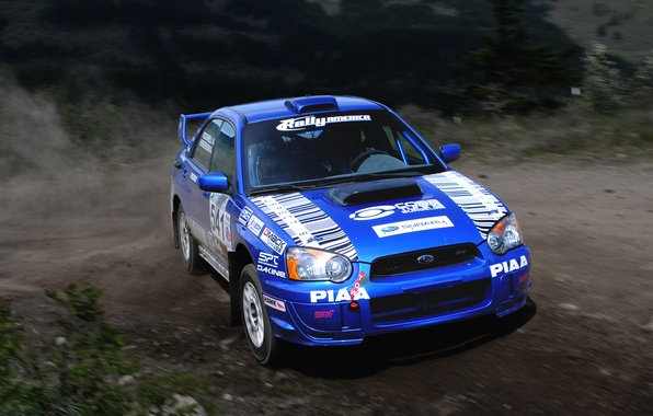 Picture Auto, Blue, Subaru, Impreza, Machine, Turn, Skid, wrx, WRC, Rally, Rally, The front
