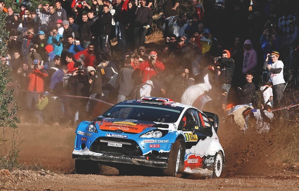 Picture Ford, Auto, Sport, People, Ford, Race, Skid, WRC, Rally, Fiesta, Fans