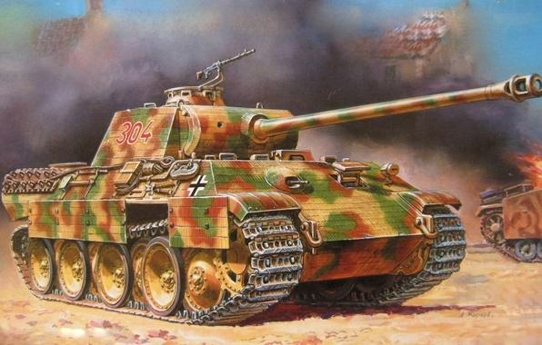 Picture Wallpaper, Panther, tank, PzKpfw V Ausf A