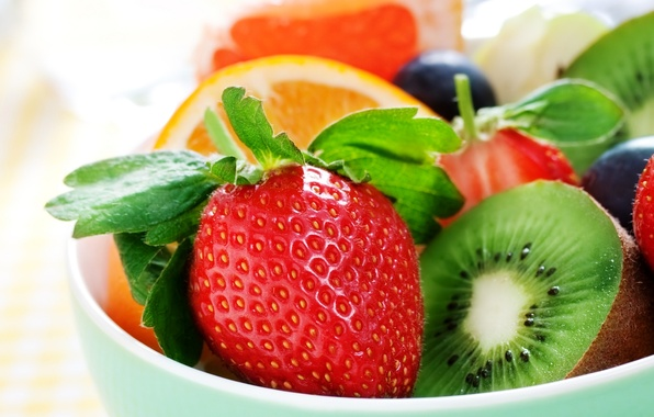 Picture berries, orange, kiwi, strawberry, fruit, fruit, orange, strawberry, berries, kiwi