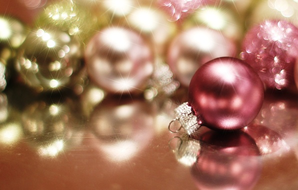 Picture balls, light, glare, balls, toys, New Year, Christmas, red, Christmas, holidays, New Year, Christmas, Christmas