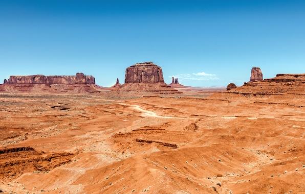 Picture sand, the sky, mountains, desert, valley, AZ, Utah, USA, USA, Sky, Rock, desert, Arizona, Sand, …