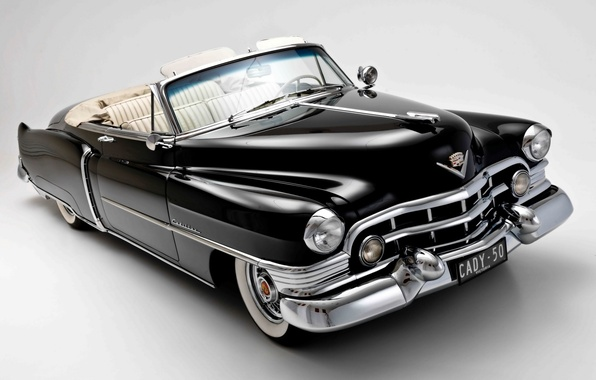 Picture background, black, Cadillac, convertible, classic, 1950, Convertible, Cadillac, Sixty-Two, Sixty-One