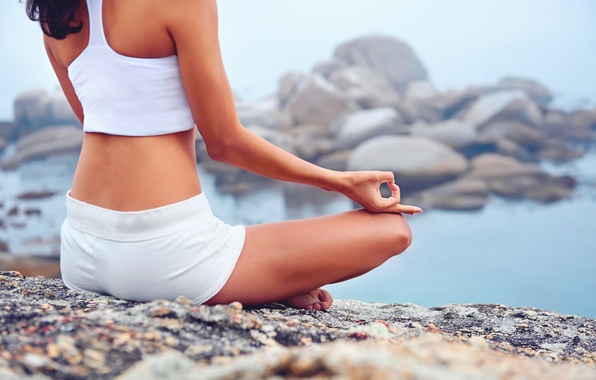 Picture woman, pose, yoga, relaxation