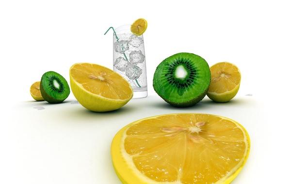 Picture water, lemon, food
