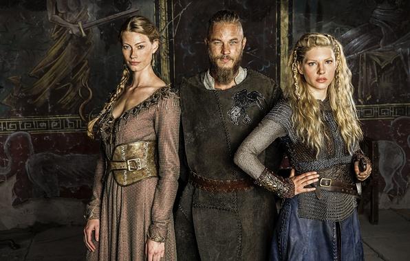 Picture the series, drama, Vikings, historical, The Vikings, Katheryn Winnick, Travis Fimmel, Ragnar Lothbrok, Lagertha, Alyssa …