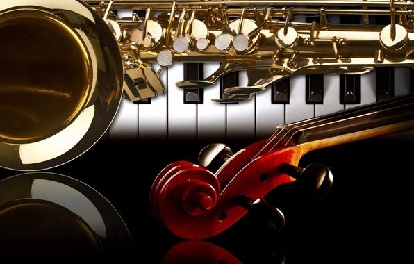 Picture Violin, Saxophone, Piano