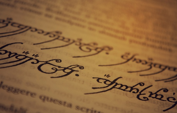 Picture The Lord of the Rings, paper, ink, writing, J. R. R. Tolkien, Sindarin