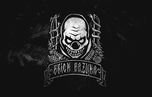 Picture Music, Logo, Music, Black, Russian Hip-Hop, Underground, the Chemodan Clan, Evil Clown
