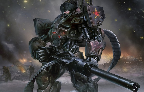 Picture soldier, armor, future war, heavy guns, Russian Ground Forces