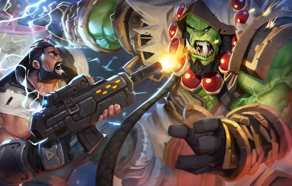 Wallpaper starcraft warcraft jim raynor thrall heroes - Heroes of the storm phone wallpaper ...