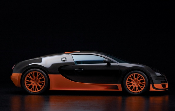 Picture veyron, side, black, view